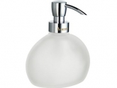 smedbo_outline-free-stading-soap-dispenser_finish-in-frosted-glass-and-polished-chrome_height-5-1-2-in-_fk250