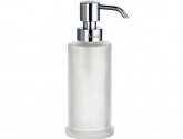 smedbo_outline-freestanding-soap-dispenser_-in-frosted-glass-and-polished-chrome_height-7-in-_fk253