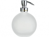 smedbo_outline-soap-dispenser-freestanding_soap-dispenser-in-frosted-glass_pump-in-polished-chrome-_height-5-1-2-in-_fk255