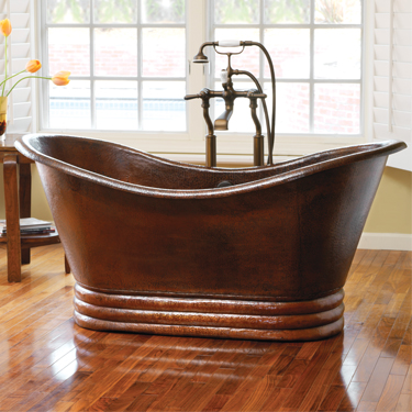 Native Trails_aurora Tub_16 Gauge Hand Hammered_recycled Copper_single Walled