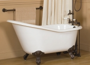 sunrise-specialty_elegance-with-smooth-white-feet_-crafted-of-cast-iron-and-porcelain-interior_71-x-31-in-_3-in-rim-width_weight-of-tub-302-lbs-_water-capacity-is-52-gal_8081