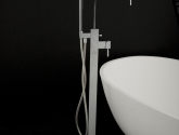 lacava_kubista-floor-standing-single-hole-tub-filler-with-one-lever-handle_hand-held-shower-with-59-in-flexible-hose_finish-in-polished-chrome_-spout-7-7-8-in-_-h-44-1-2-in-_14951