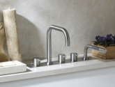 vola_two-handle-hi-flow-deck-mount-mixer-with-double-swivel-spout_one-handle-mixer-with-hand-shower_bk11