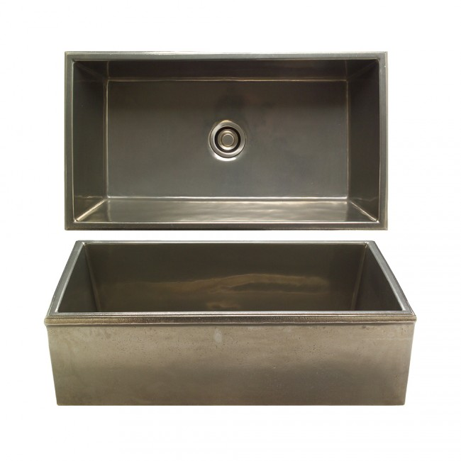 Rocky Mountain Apron Front Sink In White Bronze