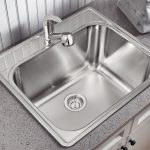 BLANCO ESSENTIAL LAUNDRY SINK SINGLE BOWL 1 HOLE STAINLESS STEEL