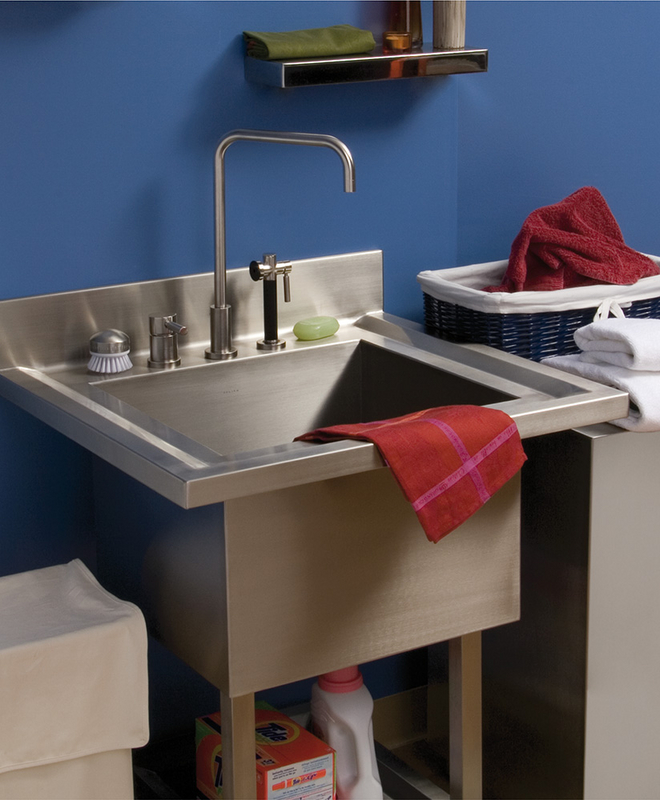 utility laundry sink | westside bath los angeles, ca